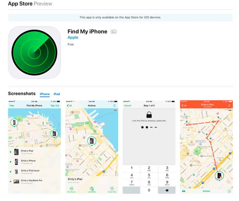 Use Find My Phone app