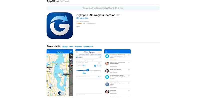 Glympse GPS Tracker app mSpyLite